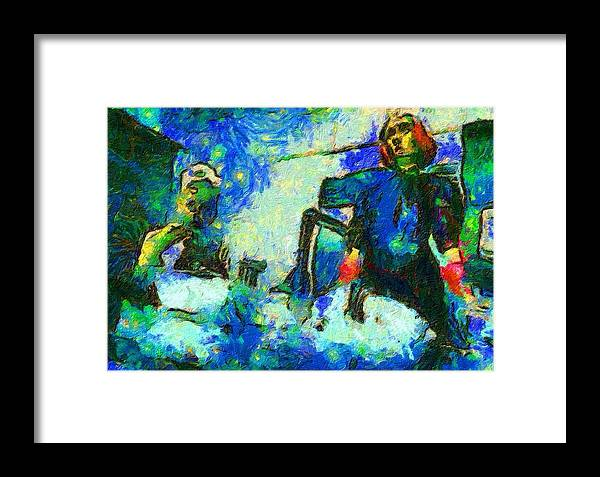 Impressionist Fashion Painting Framed Print featuring the painting Fashion 400 by Jacques Silberstein