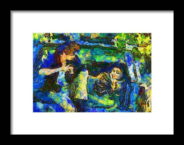 Impressionist Fashion Painting Framed Print featuring the painting Fashion 405 by Jacques Silberstein