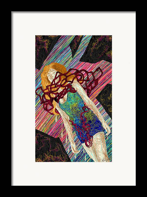 Fashion Abstraction De Dan Richters Framed Print featuring the painting Fashion Abstraction De Dan Richters by Kenal Louis