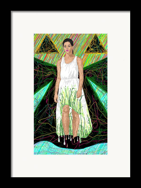 Fashion Art Framed Print featuring the painting Fashion Abstraction De Jeff Hanson by Kenal Louis