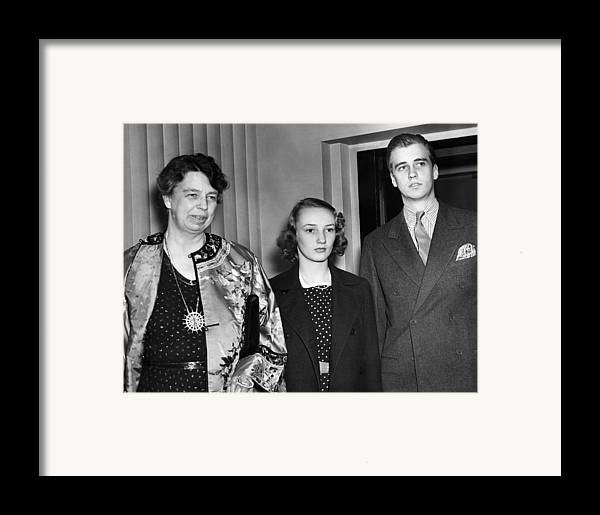 1940s Framed Print featuring the photograph Fdr Presidency. From Left First Lady by Everett