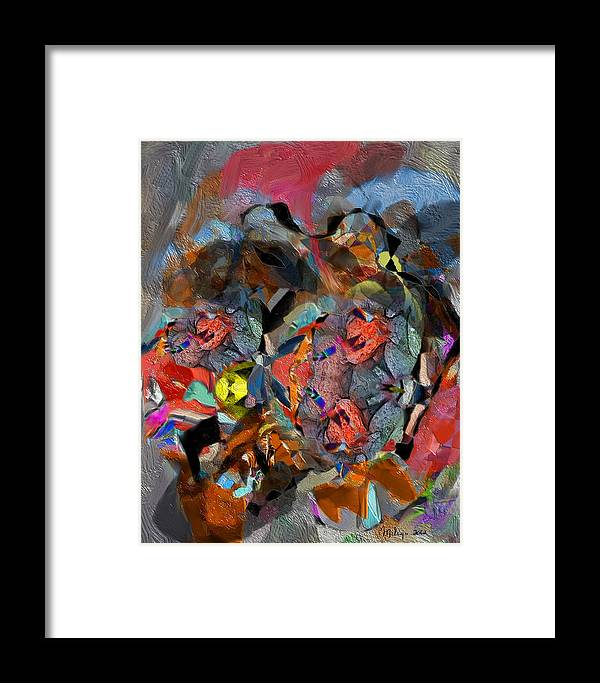Colorful Framed Print featuring the digital art February by Mike Butler