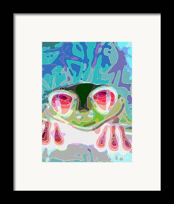 Frogs Framed Print featuring the digital art Feeling Froggy by Jimi Bush