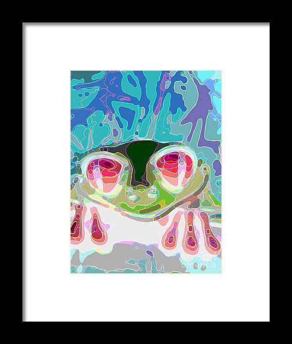 Frogs Framed Print featuring the digital art Feeling Froggy by Jimi Bush
