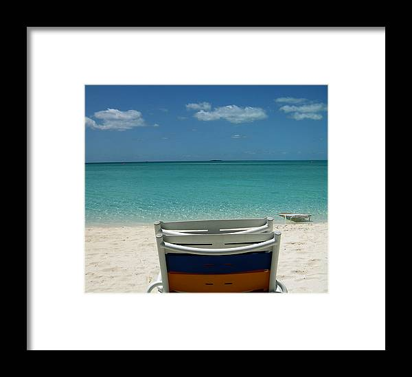 Ocean Framed Print featuring the photograph Feet In The Sand by Monica Lahr