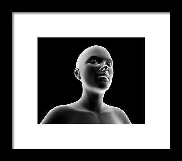 Human Framed Print featuring the photograph Female Head And Shoulders, Artwork by Pasieka