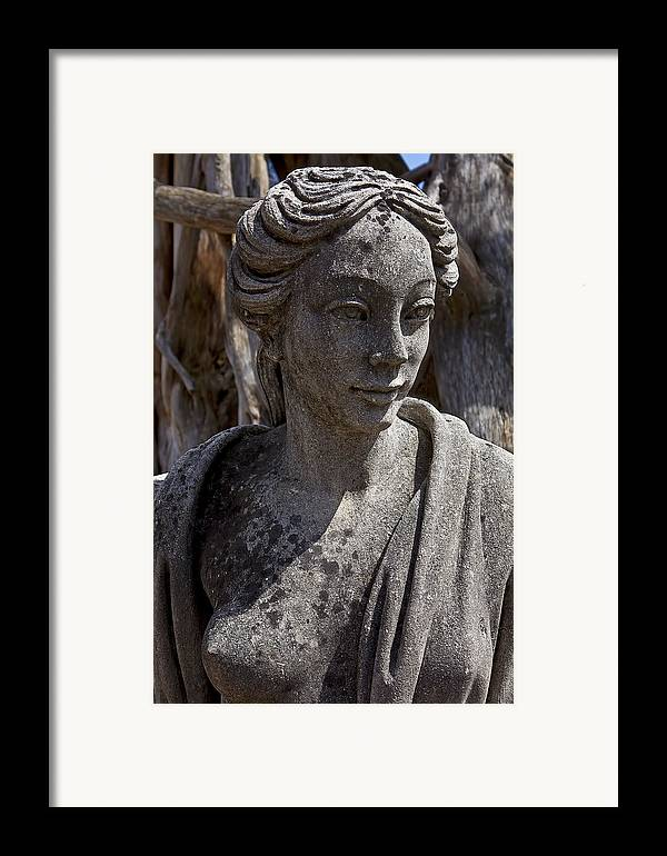 Female Framed Print featuring the photograph Female Statue by Garry Gay