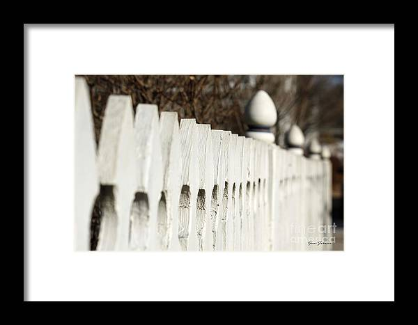 Fence Framed Print featuring the photograph Fence by Yumi Johnson