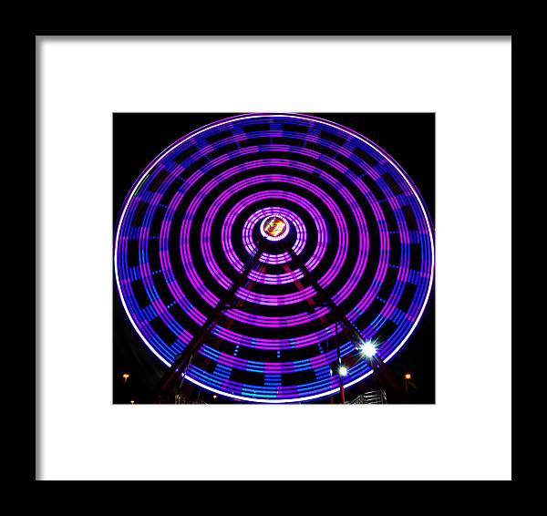 Fine Art Photography Framed Print featuring the photograph Ferris Wheel Blue by David Lee Thompson