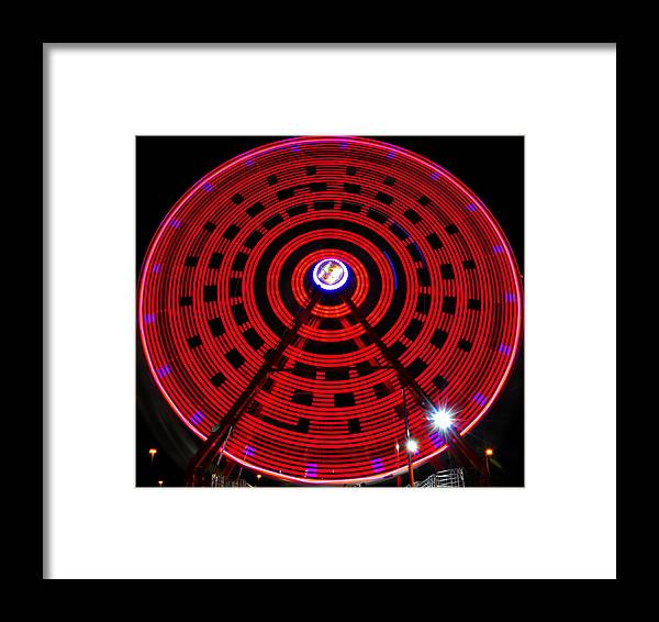 Ferris Wheel Framed Print featuring the photograph Ferris Wheel Red by David Lee Thompson