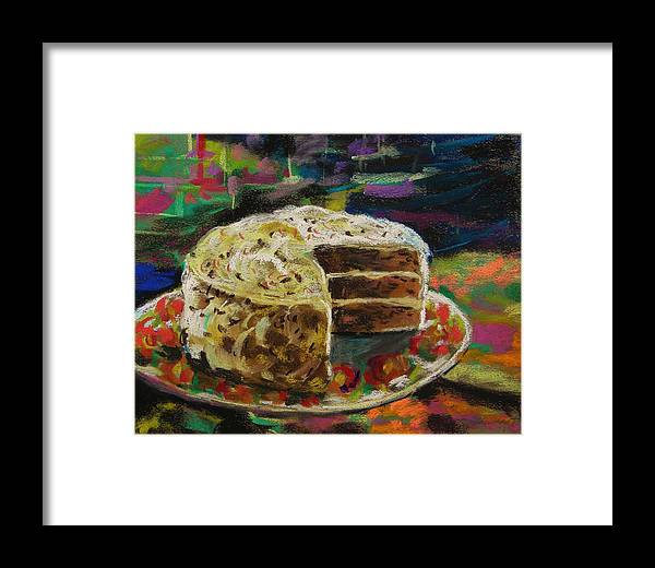 Cake Framed Print featuring the painting Festive-from The Sweets Line by John Williams