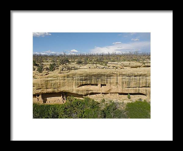 Mesa Verde Framed Print featuring the photograph Fewkes Canyon Cliff Dwelling by FeVa Fotos