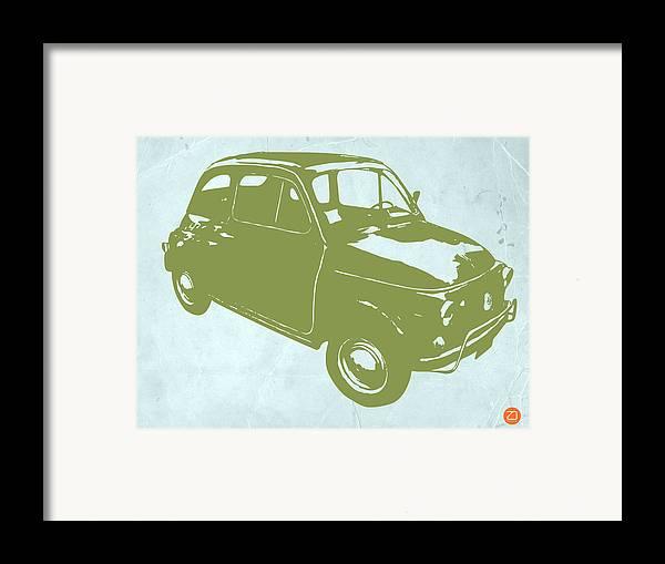 Fiat 500 Framed Print featuring the digital art Fiat 500 by Naxart Studio