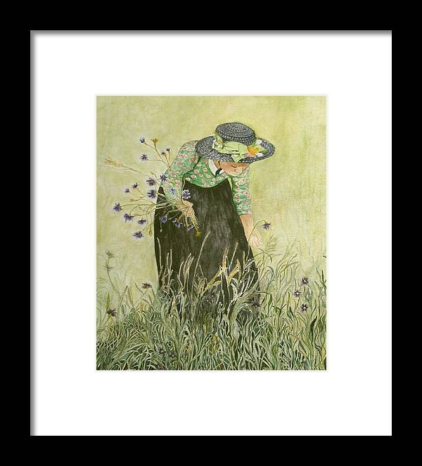 Nature Framed Print featuring the painting Field Of Dreams by Carla Van Velze