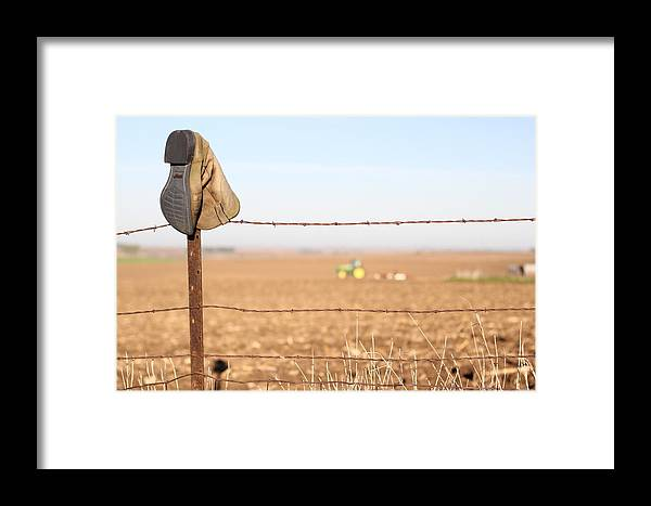 Landscape Framed Print featuring the photograph Field Work by Bryan Noll