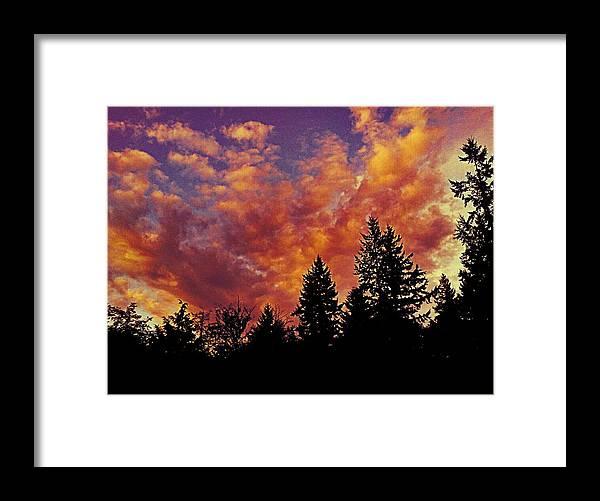 Fiery Framed Print featuring the photograph Fiery Evening by Kevin D Davis