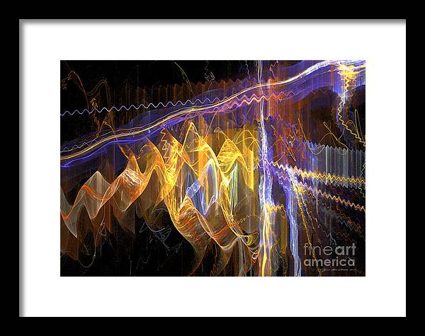Abstract Fine Art Framed Print featuring the mixed media Fiesta - Abstract Art by Abstract art prints by Sipo