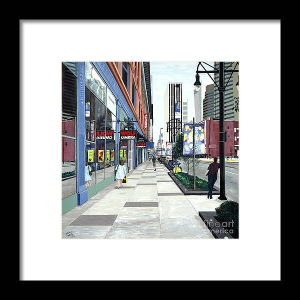 Konnie Laumer Framed Print featuring the painting Fifteenth And California by Konnie Laumer