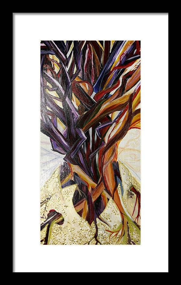 Apple Framed Print featuring the painting Fifth World Three by Kate Fortin