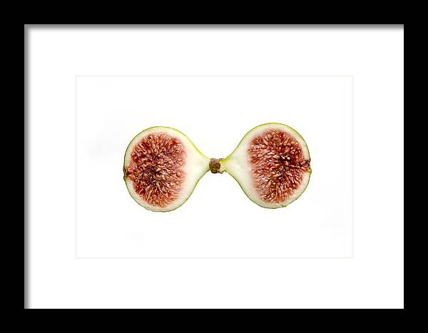 Fig Framed Print featuring the photograph Fig In Half by Perry Van Munster