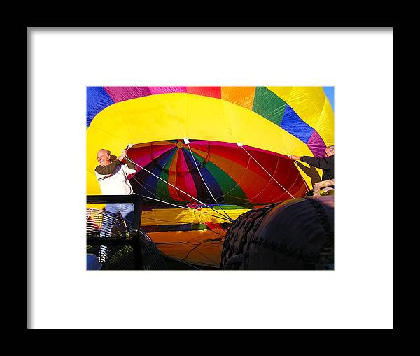 Balloons Framed Print featuring the photograph Filling The Balloon by FeVa Fotos
