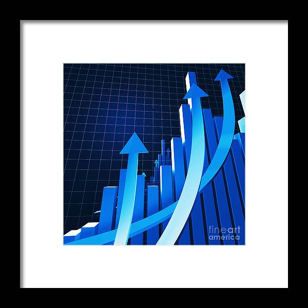 Success Framed Print featuring the photograph Financial Chart by Gualtiero Boffi