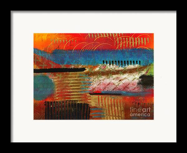 Self Discovery Framed Print featuring the painting Finding My Way by Angela L Walker