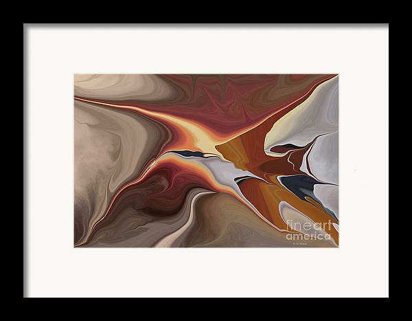 Abstract Framed Print featuring the digital art Finding Your Way by Deborah Benoit
