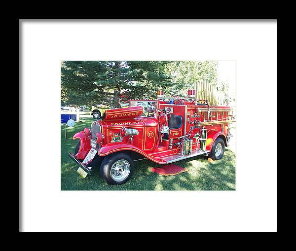 Fire Bug Framed Print featuring the photograph Fire Bug by FeVa Fotos