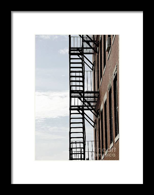 House Framed Print featuring the photograph Fire Escape In Boston by Elena Elisseeva