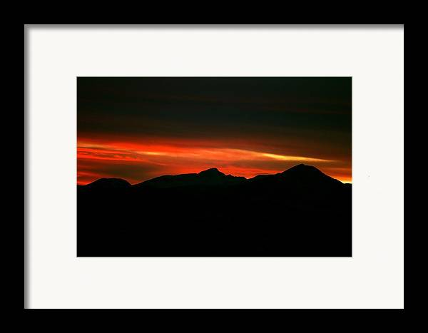 Sunset Framed Print featuring the photograph Fire In The Clouds by Kevin Bone
