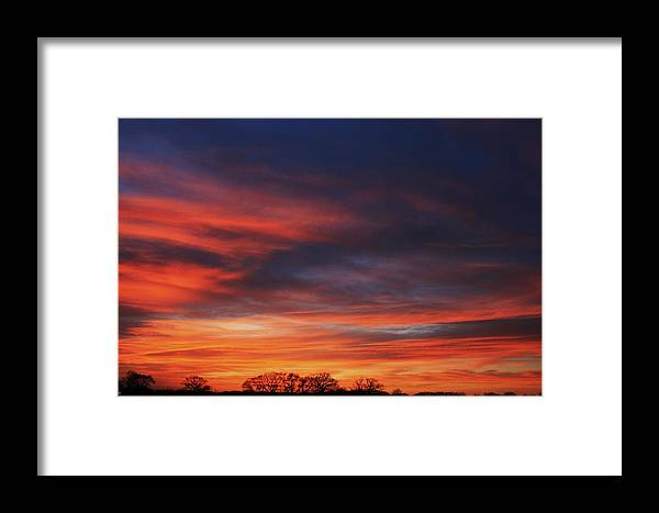 Texas Framed Print featuring the photograph Fire In The Sky II by Lorri Crossno