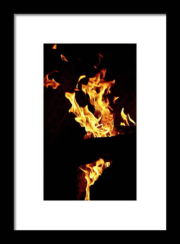 Fire Framed Print featuring the photograph Fire by Lori Leigh