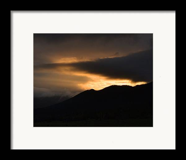 Sunset Framed Print featuring the photograph Fire On The Mountain by Kevin Bone
