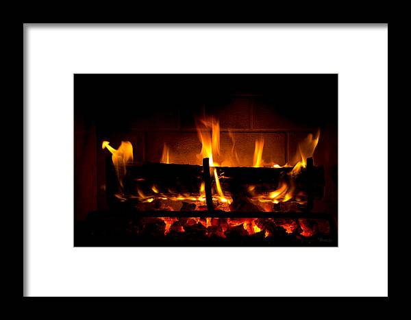 Fire Framed Print featuring the photograph Fire Visions by Marx Broszio