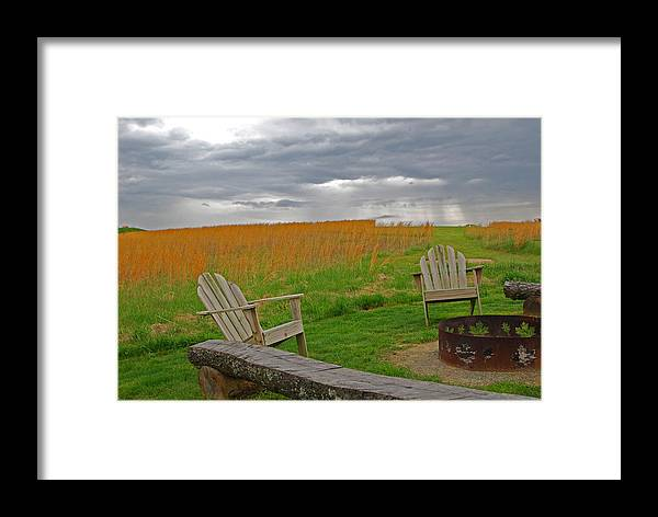 Ohio Framed Print featuring the photograph Fireside by Peter McIntosh