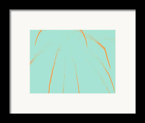 Fireworks Framed Print featuring the digital art Firework Abstract Lll by Michelle Calkins
