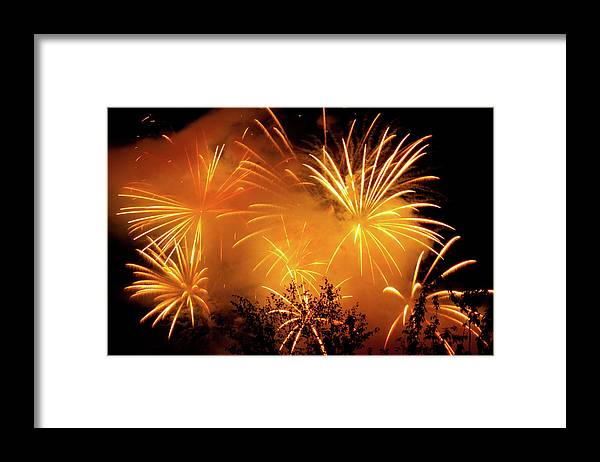 Fireworks Framed Print featuring the photograph Fireworks Finale by Stanley French
