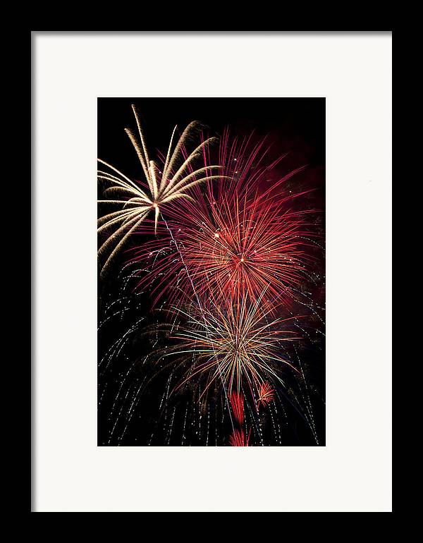 4th Of July Framed Print featuring the photograph Fireworks by Garry Gay