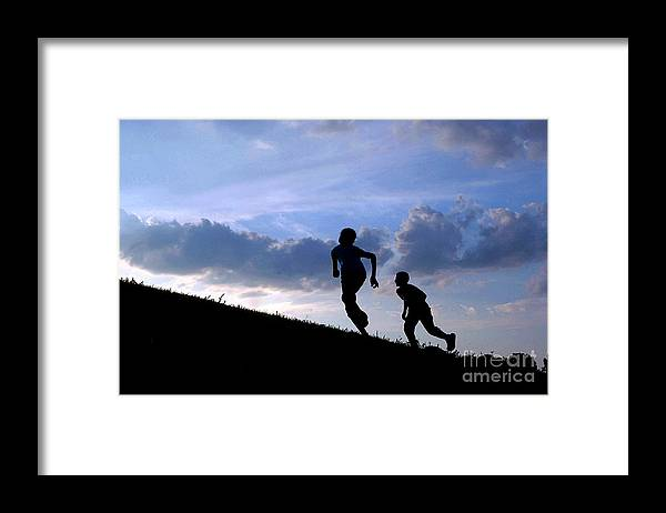 Kids Framed Print featuring the photograph First Day of Summer by Gib Martinez