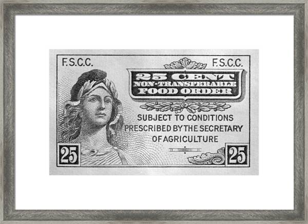 picture relating to Printable Food Stamp Application titled Very first Food stuff Stamp Computer software Operated Framed Print
