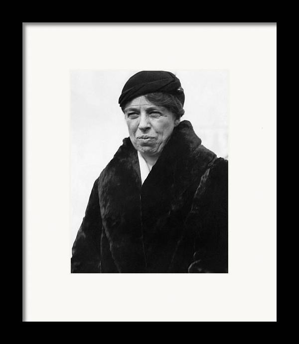 1930s Candid Framed Print featuring the photograph First Lady Eleanor Roosevelt by Everett