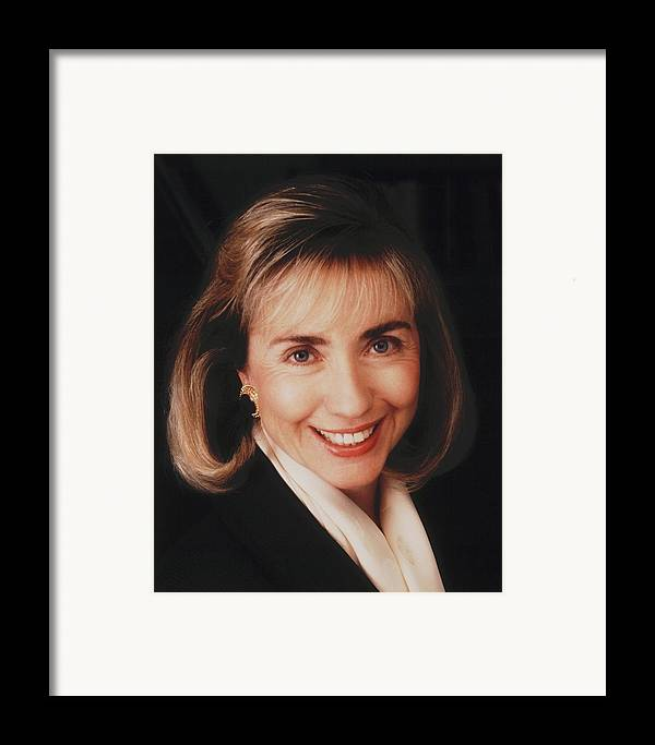 History Framed Print featuring the photograph First Lady Hillary Clinton In A 1992 by Everett