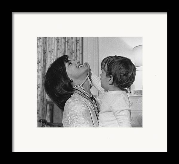 History Framed Print featuring the photograph First Lady Jacqueline Kennedy Laughs by Everett