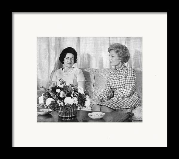 1960s Framed Print featuring the photograph First Lady Lady Bird Johnson Meets by Everett