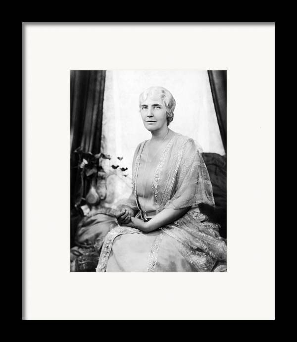 1930s Portraits Framed Print featuring the photograph First Lady Lou Henry Hoover 1874-1944 by Everett