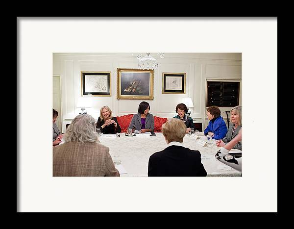 History Framed Print featuring the photograph First Lady Michelle Obama And Dr. Jill by Everett