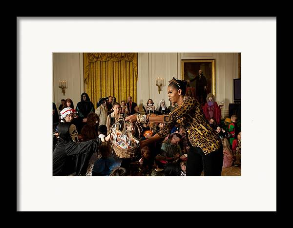 History Framed Print featuring the photograph First Lady Michelle Obama Hands by Everett
