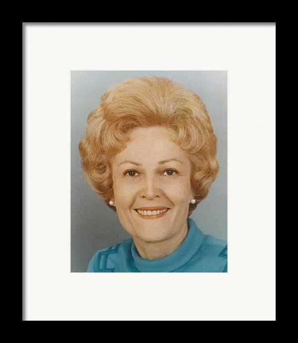 History Framed Print featuring the photograph First Lady Patricia Nixon 1912-1993 by Everett