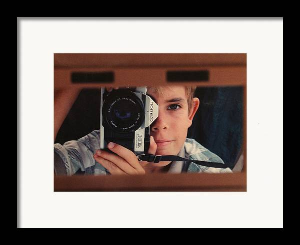 Self Framed Print featuring the photograph First Self-portrait by David Paul Murray